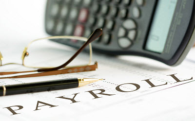 documents with payroll written on them